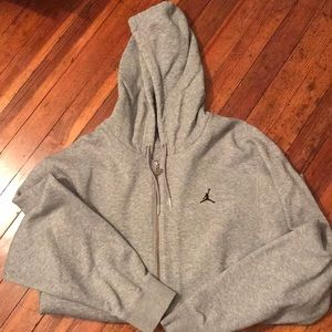 Air Jordan Hooded Zip Up Sweatshirt